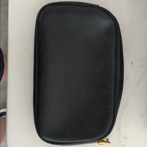 Genuine leather Gucci Black zip cosmetic case